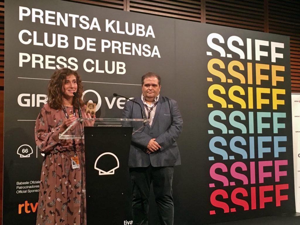 Presentación de la caravana de cine en el Festival de San Sebastián