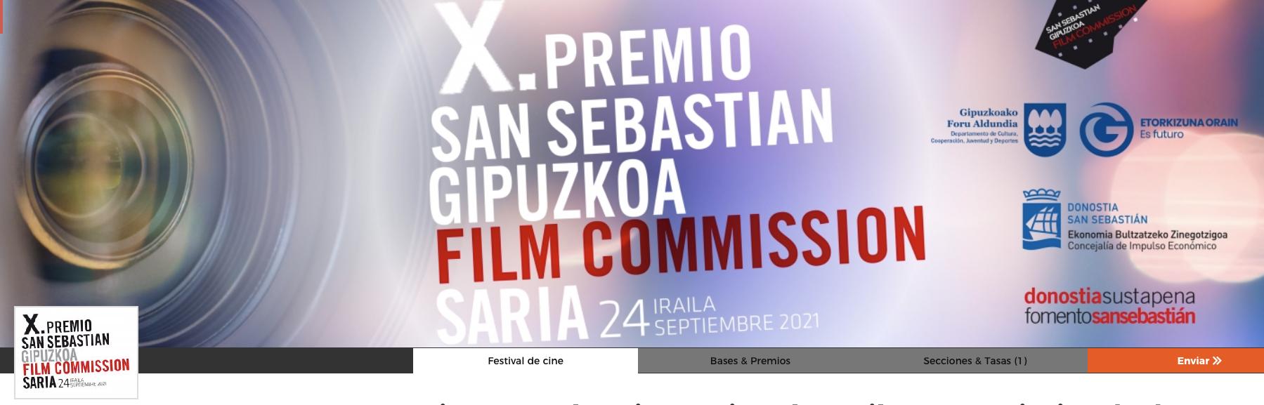 Mañana termina el plazo de participación para el X Premio San Sebastián-Guipuzkoa Film Commission